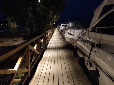 SOLO in wooden handrail Trosa Sweden