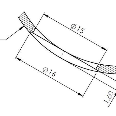 Counterbore in handrail for flush finish