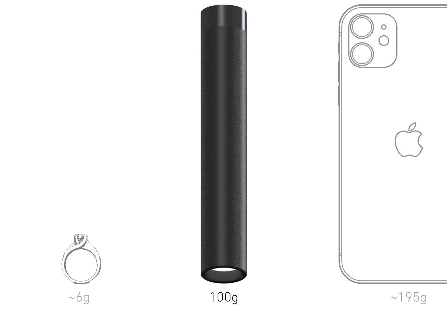 LED Puck AIR size comparison