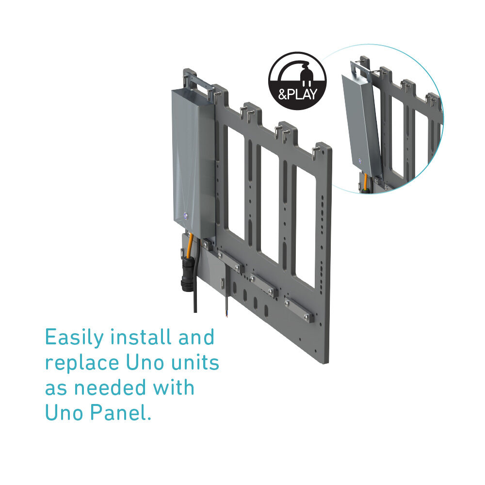 Easily install, relocate and replace Uno units with Uno Panel
